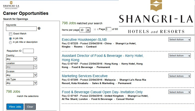 Hospitality luxury Careers - Shangri-La Hotels