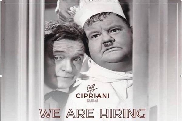 waiters-waitress Cipriani Yas Island Dubai